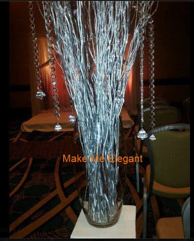 Silver branch arrangements for your Aisle or Stage