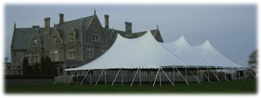 60' x 100' century pole tent at the Branford Mansion.
