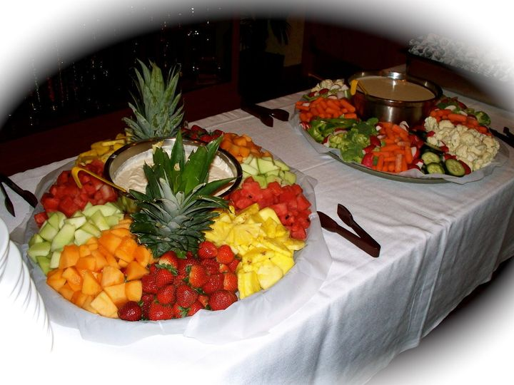 Crazy Bob's Foods by MarketPlace Catering.  Fresh Cut Fruit tray with fruit dip and fresh veggies...
