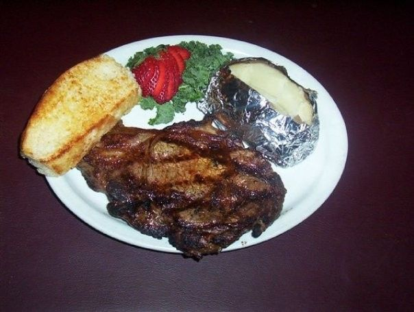 Crazy Bob's Foods.  Ribeye Steak.  Grilled to Order.