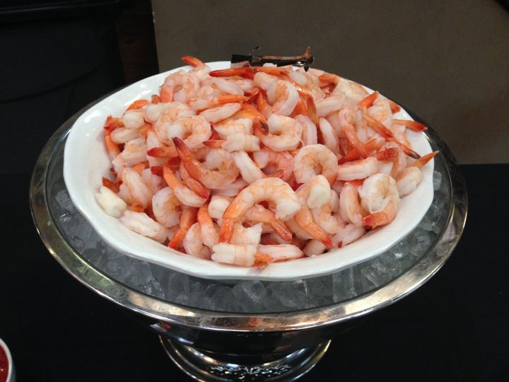 360 Catering and Events - Peel and Eat Jumbo Shrimp Served with Vodka Spiked Cocktail Sauce
