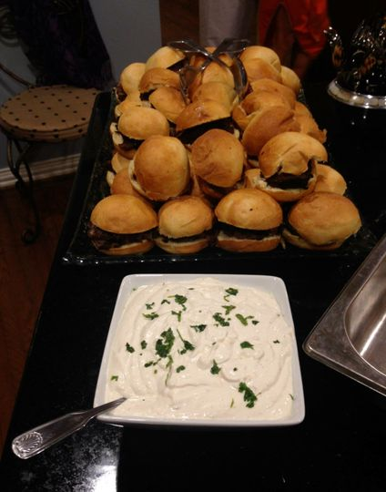 360 Catering and Events - Tenderloin Sliders Served with Horseradish Creme!