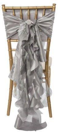 Ruffle Chair Sash (silver)
