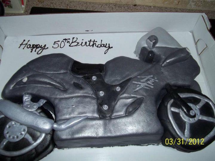 Motor bike cake concept