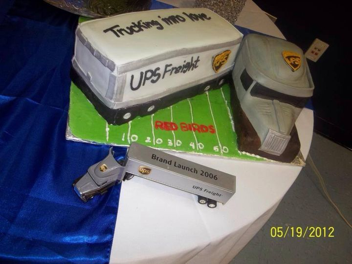 UPS freight cake concept