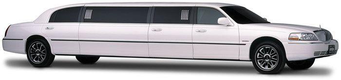 white stretch limo