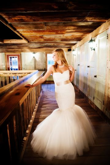 Mermaid tail wedding dress