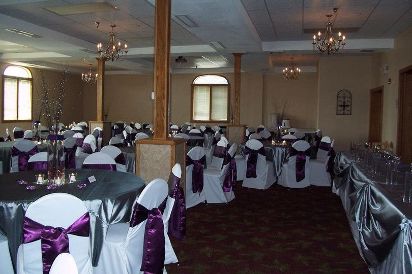 Violet chair ribbons
