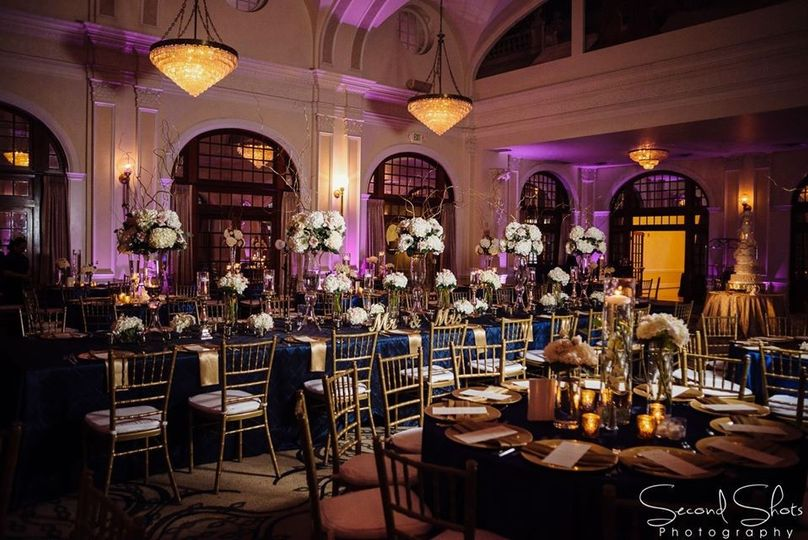 Reception Navy blue and Gold