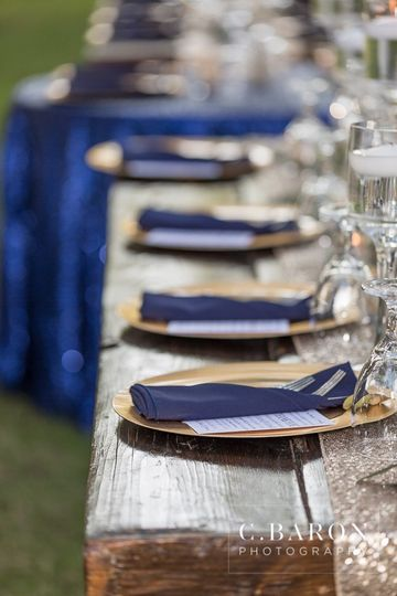 Wood Table reception
