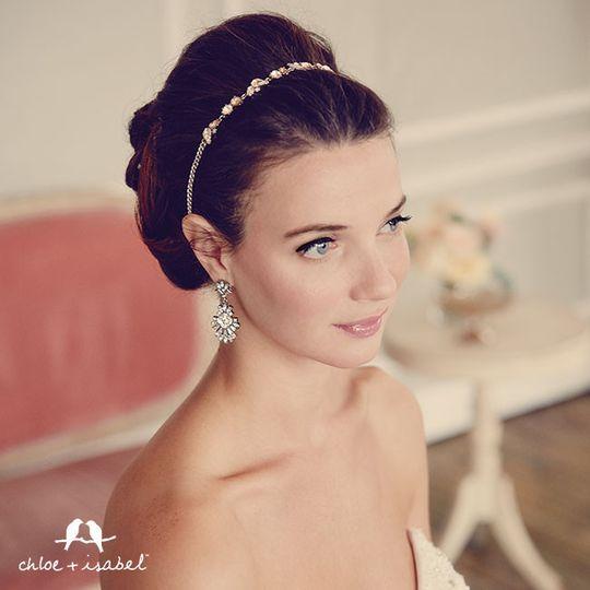 Crystal Strand Statement Headband  $58  #H007 Celestial Frost Post Drop Earrings  $48  #E249