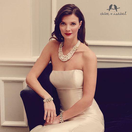 Heirloom Pearl Deco Statement Necklace  $138  #N305 Heirloom Pearl Statement Bracelet  $48  #B252