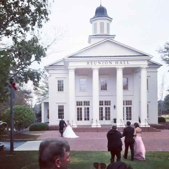 At the wedding venue