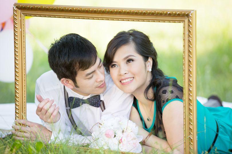 Creative couple portrait