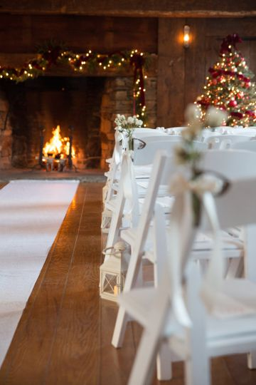 Located right across the street from the Main Inn, the Homestead Room is an ideal ceremony location...