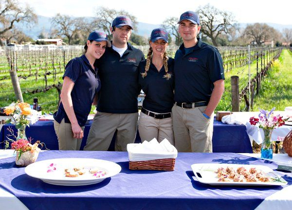Staff at First Major Catering Event -- Two Owners Present