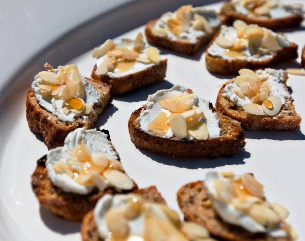 Honey-Drizzled Almond Crostini
