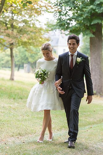 Delphine Manivet Alexis Gown Real Bride Marine Domaine de Grand'Maisons in France