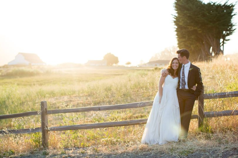 Real Bride Audrey in Truvelle Natalie Gown Point Reyes Station Planner: Molli Milner Small Blue...
