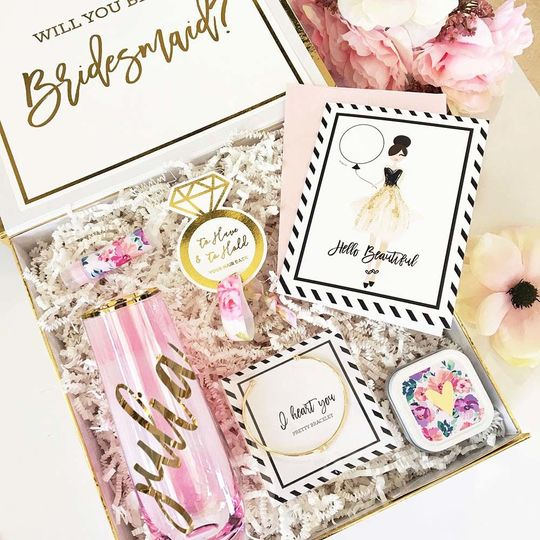 Curated Bridesmaids Proposal & Thank You Gift Boxes