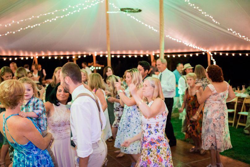 Dancing at Falmouth Maine Wedding of Chris and Kim