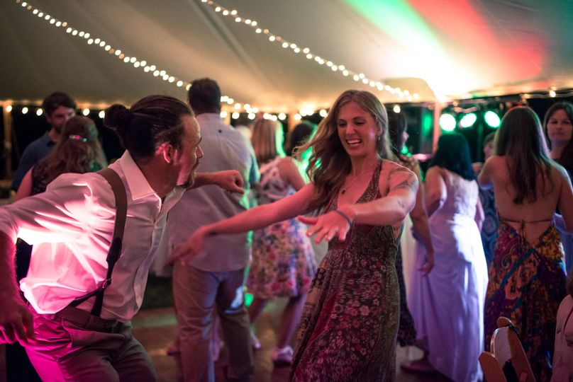 Chris and Kim's Falmouth Maine Wedding - Brother of the bride breakin' it down on the dance floor