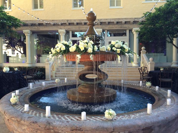 Fountain with candles