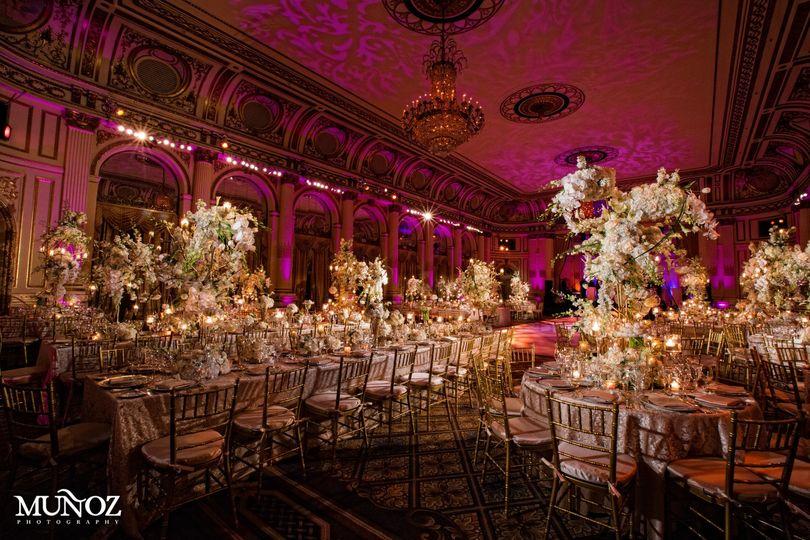 Fancy wedding reception