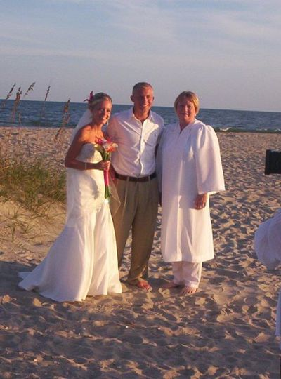 The bride & groom are from Kansas, we worked through emails to ensure they had the perfect vows for...