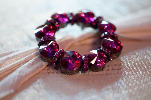 """Heart of Pure Pink and Gold"" by Amelia Irene Design. Fuchsia crystal brooch with Midori dupioni..."