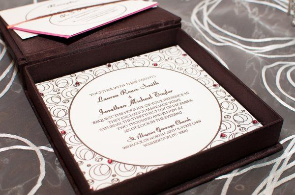 Circle of Love Invitation set featuring Amelia Irene Design. Designed and letterpress printed by...