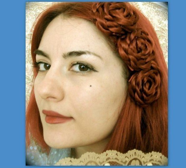 mini rosettes made of hair custom matched to your hair color.  These can clip into your hair and...