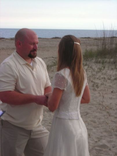 Married on the beach at Tybee ...