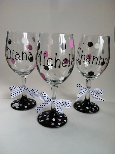Hand Painted Wine Glasses in Custom Colors