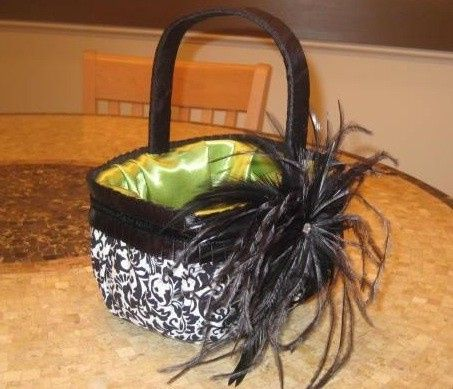 Flower Girl Basket in Custom Fabrics