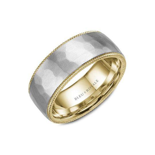 Bleu Royale wedding rings