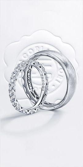 Tacori wedding rings in silver