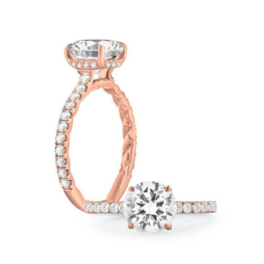 A. Jaffe engagement rings in gold