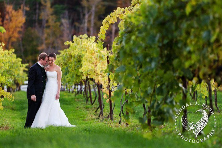 Newlyweds in the vineyard