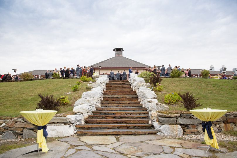 Stone staircase to the ceremony space