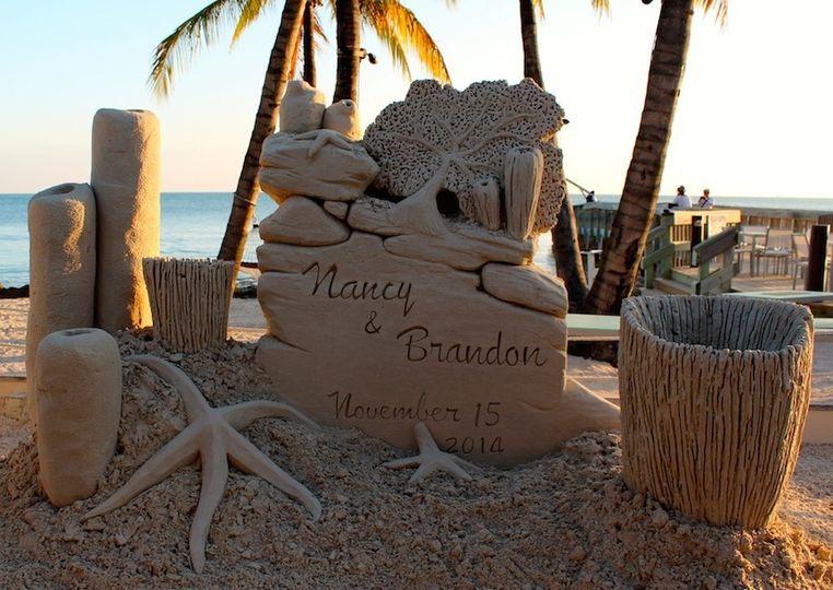 Nancy and Brandon's beach wedding