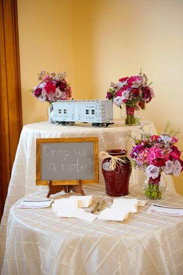 weddingnotetable