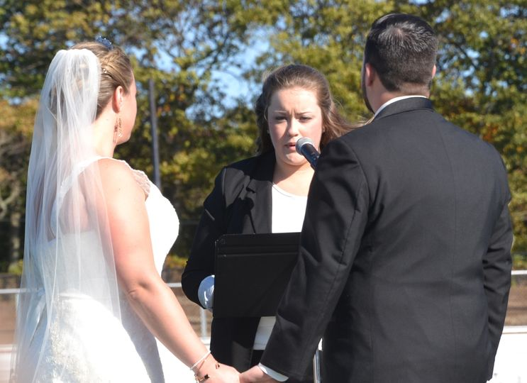 Chris (a huge Sachem fan) and Theresa were married on the 50 yard line of the Sachem North Football...
