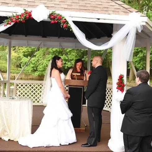 Kathy & Frank awaiting their first kiss as husband and wife at the Woodbury Country Club  *Photo...