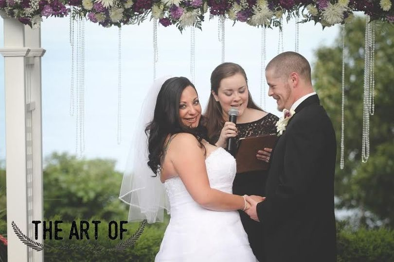 07d97830fb9701d8 1444348831880 diane and matt get a laugh at their ceremony at