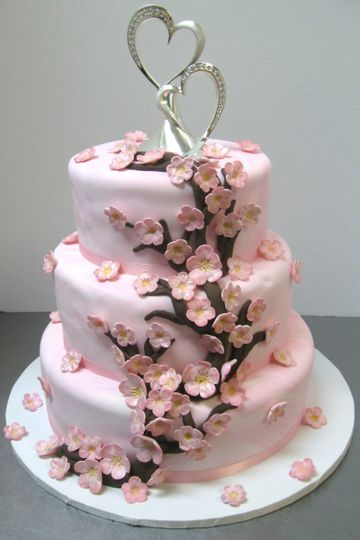 cherry blossom wedding cake 006