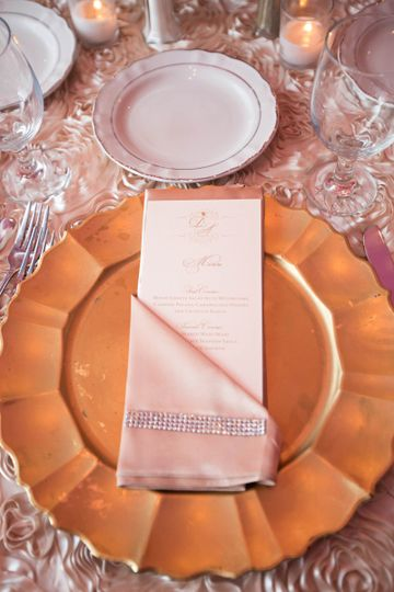 Table setting and menu card