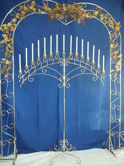brass heart arch