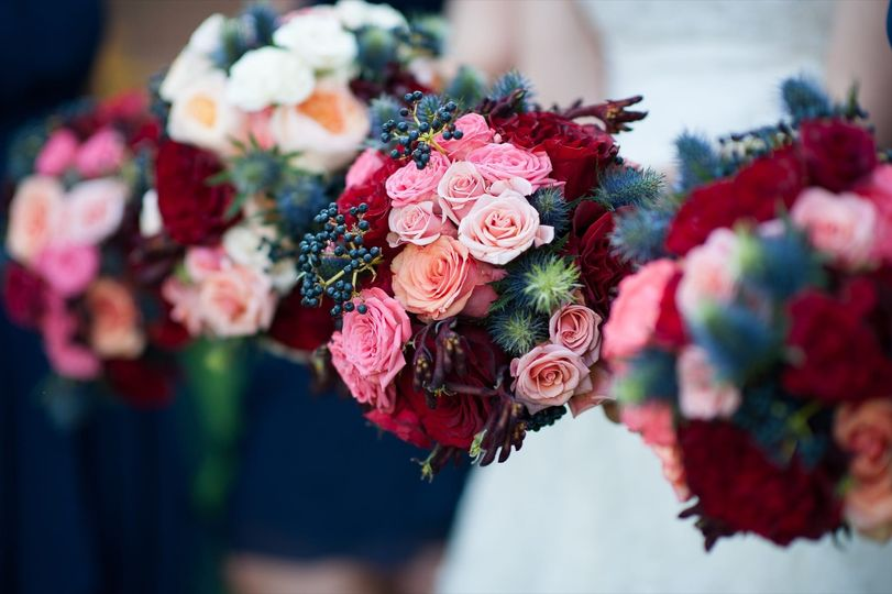 Bold rich bouquets with abundant texture.