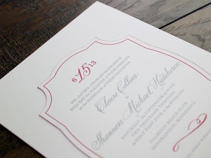Tmx 1390946947036 Mcgoldrickinvite Minneapolis wedding invitation